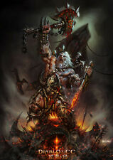 Poster For Diablo Game Art Silk Fabric poster