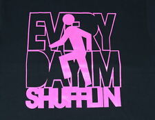 "NEW MEN   FUNNY T - SHIRT TEE  LMFAO EVERY DAY I'M SHUFFLIN PINK "" *ALL SIZES"