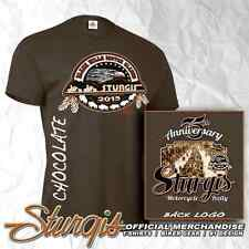 STURGIS MOTORCYCLE RALLY AND RACES OFFICIAL LOGO CHOCOLATE BROWN T-SHIRT - 75TH