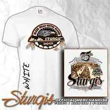 STURGIS MOTORCYCLE RALLY AND RACES OFFICIAL LOGO WHITE T-SHIRT - 75TH - 2015