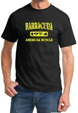 1974 Plymouth Barracuda American Muscle Car Color Design Tshirt NEW Free Ship