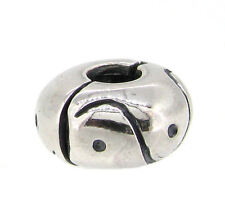 Antique 925 Sterling Silver Round Snap Clip Clasp for European Charm Bracelets