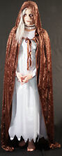 Medieval/SCA/Larp/Re enactment/Pagan/Gothic BROWN HOODED CLOAK all sizes