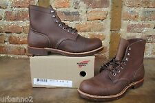 "NEW MEN RED WING HERITAGE 6"" INCH 8111 IRON RANGER BOOT AMBER HARNESS LEATHER"