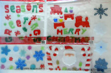 NEW  Christmas  Holiday Window Gel Clings Reuseable Choose from 5 Designs
