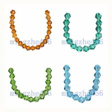 50/100pcs  Faceted Bicone 5328# Crystal Glass Loose Beads Spacer Charms 8mm