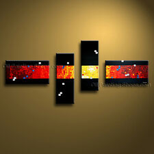 Hand Painted 4 Pieces Modern Abstract Painting Wall Art On Canvas Artworks