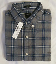 NWT J.Crew Men's Slim Jaspé Cotton Shirt In Gray Blue Multiplaid SZS XS,S,L,XL