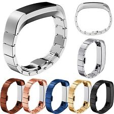 Stainless Steel Watch Band Wrist Strap Link Bracelet For Fitbit Alta Tracker GB