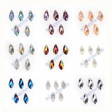 10pcs  6x12mm Faceted Crystal Teardrop Pendant Beads Findings 51 Colors