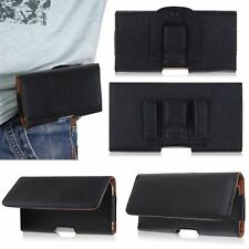 Horizontal Leather Pouch Cover Holster Belt Clip Case with Belt Clip for Phones