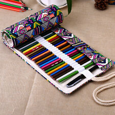 F003 Canvas Color Pencil case Pencil Wrap Roll Pencil bag 36/48/72 Hole