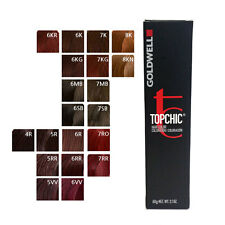 Goldwell Topchic Permanent Hair Color Tubes 2.1 oz - Red Color - Choose Color