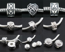 Wholesale 5pcs Silver Plated Stopper Charm Locks Beads For European Bracelets