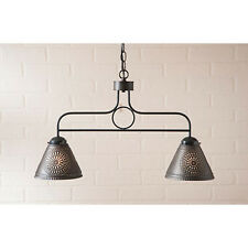 Irvin's Medium Franklin Hanging Light Chisel Design - Primitive Lighting - New!