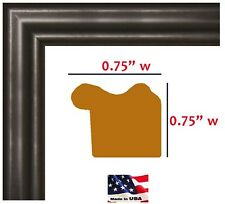 .75 inch Solid Poplar Wood Satin Black Picture Poster frame Office & Wall Decor