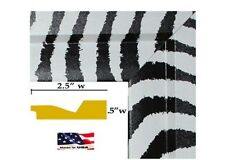 """20 INCH WIDE  Black & White Zebra 2.5"""" wood composite Picture Poster Frame (#40)"""