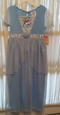 New-Disney-Cinderella-Nightgown-Size-4-5-or-6-6X-Dress-up-Blue-Embroidered-Cameo