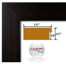 Columbian Coffee Dark Brown Picture Poster Photo FRAME  Wood Composite 7 in WIDE