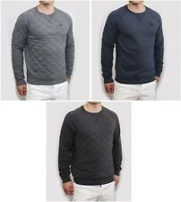 NEW Abercrombie & Fitch Mens Quilted Sweatshirt Long Sleeve Black Navy Gray NWT