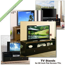 60 Inch TV Stand Media Entertainment Console Wood Table for Flat Screens TVs