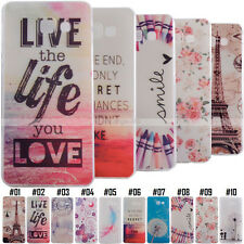 Painted Skin Soft Rubber Silicone Shockproof For Samsung Phone TPU Case Cover