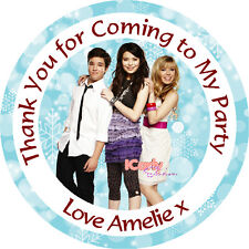 Personalised iCarly 37mm Birthday Stickers Party Thank You Seals - L753