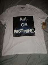True Religion Brand Jeans Men White All or Nothing Logo Shirt X-LARGE NWT