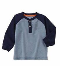 Gymboree NWT Boys Blue Long Sleeve Henley Size 3-6 M