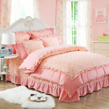 Single/Double/Queen Size Bed Quilt/Doona/Duvet Cover Set New Pink Floral Linen