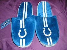 Indianapolis Colts Mens Slip On Slippers Stripe XLarge