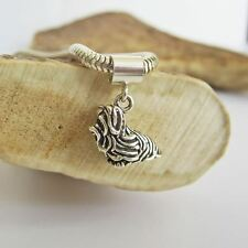 Maltese Large Sterling Silver European-Style Charm and Bracelet- Free Shipping