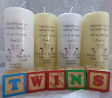 Personalised Congratulations New Parent New Twins Candle Gift