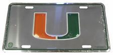 Miami Hurricanes NCAA Licensed 3D Chrome Silver License Plate