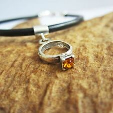 Orange Birthstone Ring European-Style Charm and Bracelet- Free Shipping