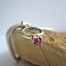 Pink Birthstone Ring European-Style Charm and Bracelet- Free Shipping