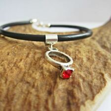 Red Birthstone Ring European-Style Charm and Bracelet- Free Shipping