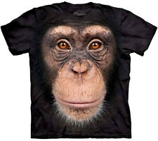 CHIMP FACE T-Shirt The Mountain Big Head Chimpanzee Zoo Animal Tee S-3XL NEW