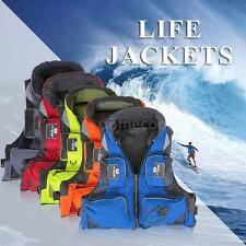 Durable Adult Life Jacket Survival Vest For Drifting Boating Swimming N1J6