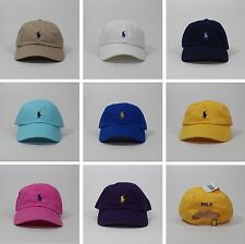 NEW Polo Ralph Lauren Baseball Cotton Chino Cap Hat Small Pony Adjustable Strap