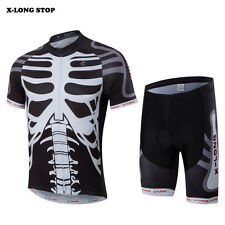 Team Mens Sportwear Ropa Ciclismo Bike Cycling Jersey & (Bib) Shorts Sets Skull