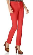 NEW NYDJ Not Your Daughters Jeans pants SHERI Skinny ankle bright watermelon red