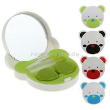 Cute Contact Lens Case Box Travel Kit Portable Mirror Storage Holder Container