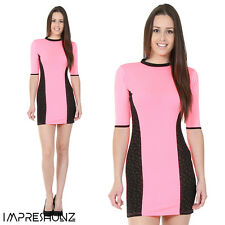 UK Women Sexy Celeb Playsuit Party Evening Summer Ladies Dress Size 6-14 Pink