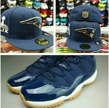 Matching New Era New England Patriots Fitted hat for Jordan Retro 11 Low Navy