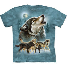OLD SCHOOL WOLF COLLAGE T-Shirt The Mountain Native American Wolves S-3XL NEW