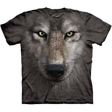 WOLF FACE T-Shirt by The Mountain Giant Big Wolves Head Adult Tee S-3XL NEW