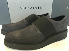 """ALL SAINTS MEN'S SLATE GREY """"BIND"""" LEATHER SHOES BOOTS - UK 8 9 10 11 NEW BOXED"""