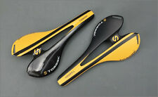 Light Carbon Fiber Seat MTB Road Bike Bicycle Racing Hollow Saddle Yellow ~150g