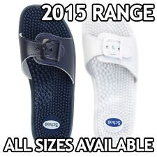 Scholl New Massage Fitness Sandal   White or Blue   All Sizes Available